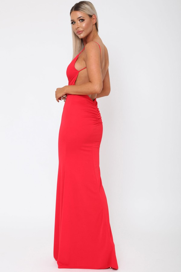 Yasmine Long Gown in Red